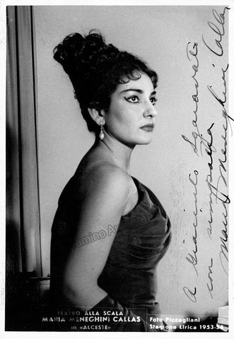 Callas, Maria - Signed Photo in Alceste
