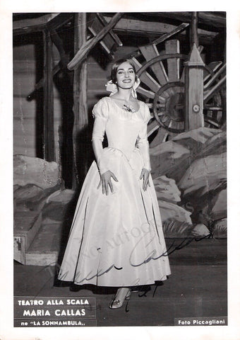 Callas, Maria - Signed Photo in La Sonnambula 1961