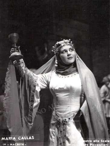 Callas, Maria - Signed Photo in Macbeth