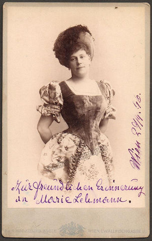 Lehmann, Marie - Signed Cabinet Photo 1896