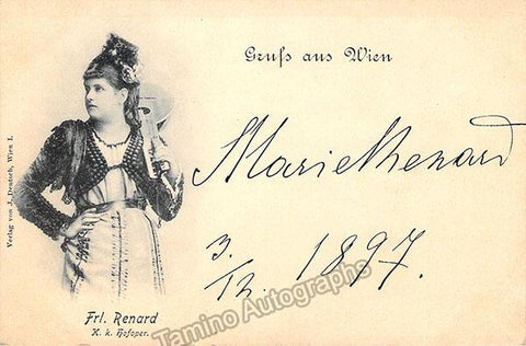 Renard, Marie - Signed Photo Postcard