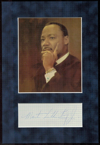 King, Martin Luther Jr. - Signature and Portrait