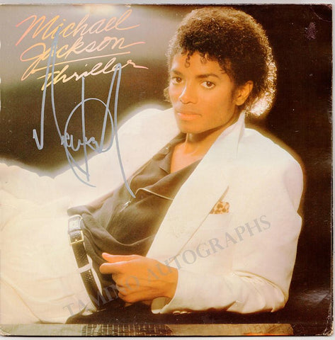 "Jackson, Michael - Signed LP Record ""Thriller"""