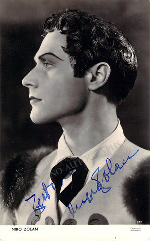 Zolan, Miro - Signed Photo