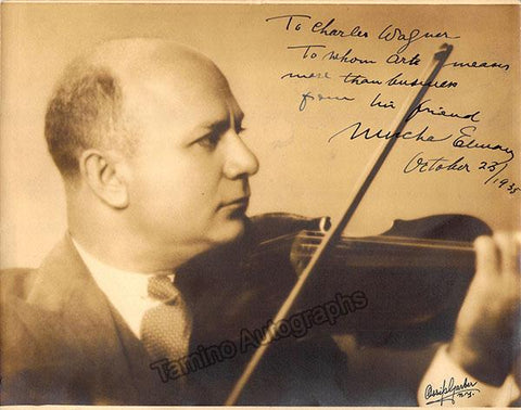 Elman, Mischa - Signed Photo 1935
