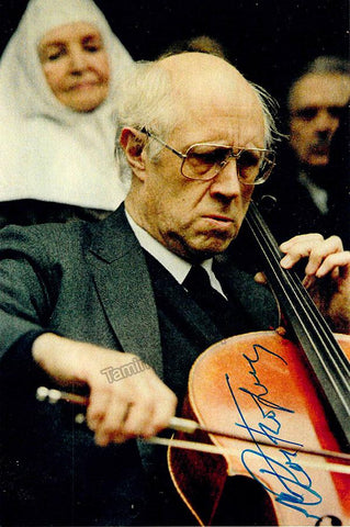 Rostropovich, Mstislav - Signed Photo in Performance