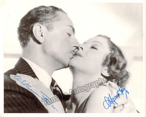 Loy, Myrna - Signed Photo with William Powell