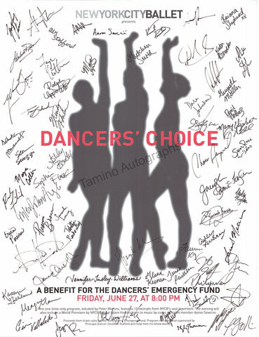 Dancers´ Choice Benefit Poster Signed by 60 Artists