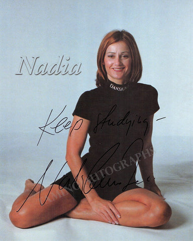 Comaneci, Nadia - Signed Photo