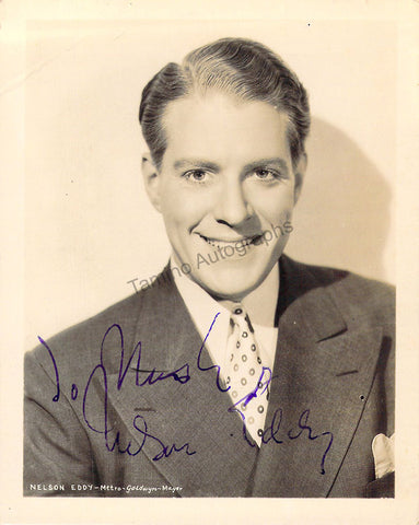Eddy, Nelson - Signed Photograph