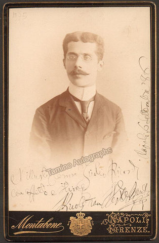 Van Westerhout, Nicolo - Signed Cabinet Photo 1886