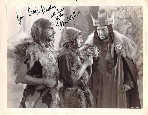 Welles, Orson - Signed Photograph in MacBeth