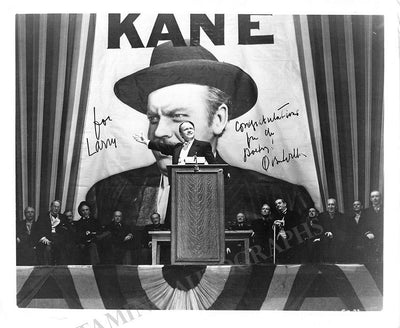 Welles, Orson - Signed Photo in Citizen Kane