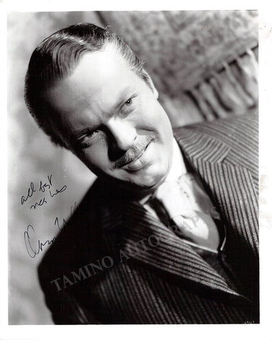 Welles, Orson - Signed Photo