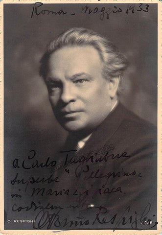 Respighi, Ottorino - Signed Photo 1933