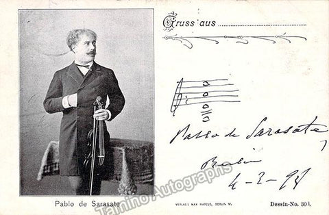 Sarasate, Pablo de - Signed Photo 1898