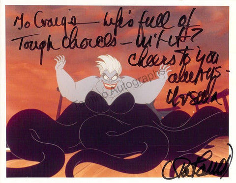 "Carroll, Pat - Signed Photo of ""The Little Mermaid"""