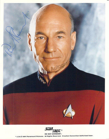 "Stewart, Patrick - Signed Photo in ""Star Trek: The Next Generation"""