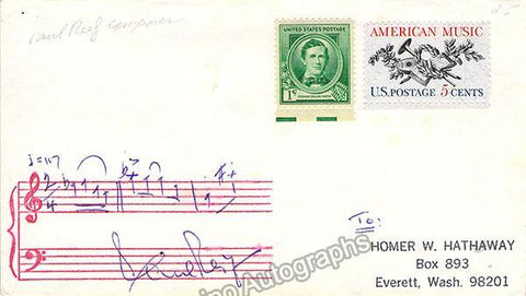 Reif, Paul - Autograph Music Quote Signed