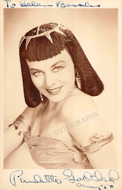 Goddard, Paulette - Signed Photo 1950