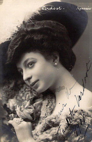 Verdoot, Paulette - Signed Photo 1908