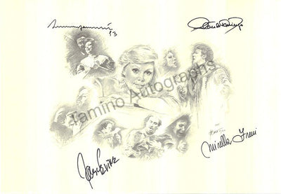 Pavarotti, Luciano - Domingo, Placido - Freni, Mirella - Levine, James - Poster Signed by all 4
