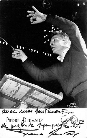 Dervaux, Pierre - Signed Photo Conducting