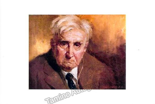 Vaughan Williams, Ralph - Autograph Note Signed