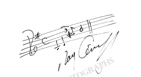 Conniff, Ray - Autograph Music Quote
