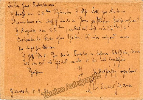 Strauss, Richard - Autograph Letter Signed 1931 & Photo