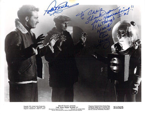 "Clarke, Robert - Signed Photo in ""The Man from Planet X"""