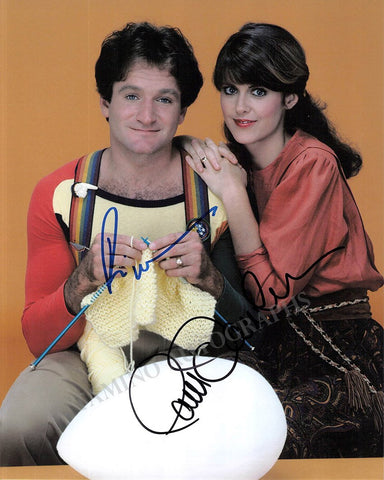 "Williams, Robin - Dawber, Pam - Double Signed Photo in ""Mork & Mindy"""