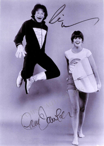 "Williams, Robin - Dawber, Pam - Double Signed Photo in ""Mork and Mindy"""