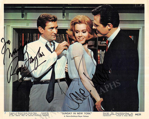 "Fonda, Jane - Taylor, Rod - Signed Photo in ""Sunday in New York"""