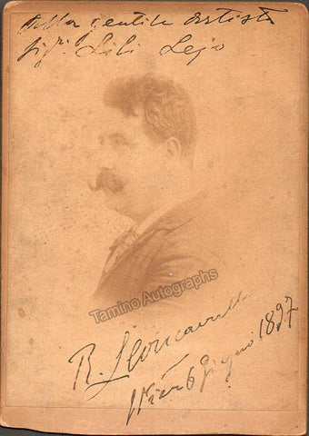 Leoncavallo, Ruggero - Signed Cabinet Photo 1897