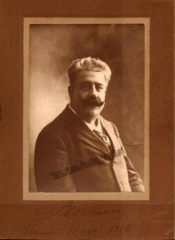 Leoncavallo, Ruggero - Signed Photo 1918