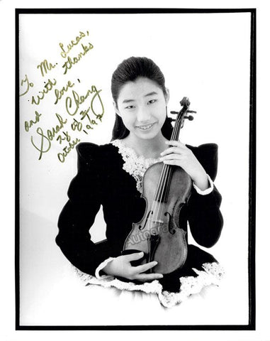 Chang, Sarah - Signed Photo Young