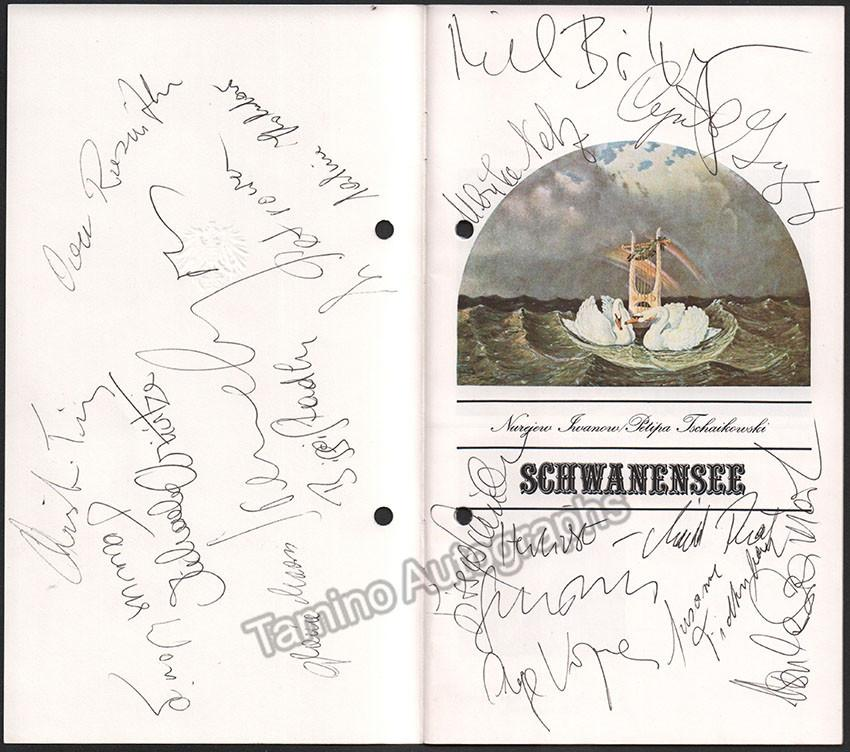 Schwanensee complete cast and crew signed program WM c3d5aa16 baf6 4430 be09 952020dc643c