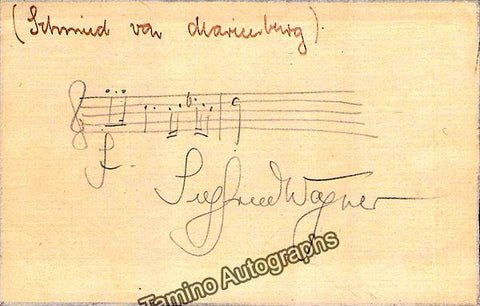 Wagner, Siegfried - Autograph Music Quote Signed