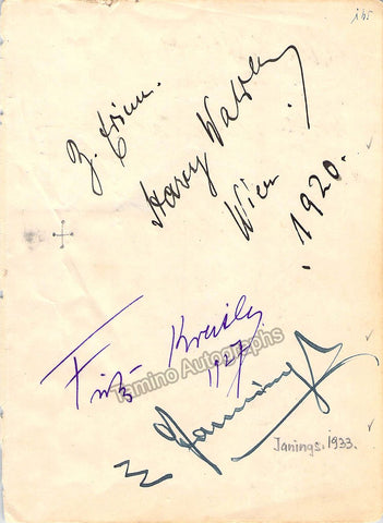 Kreisler, Fritz & Others - Signed Album Page 1927