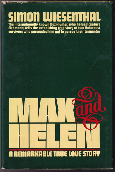 "Wiesenthal, Simon - Signed Book ""Max and Helen"""