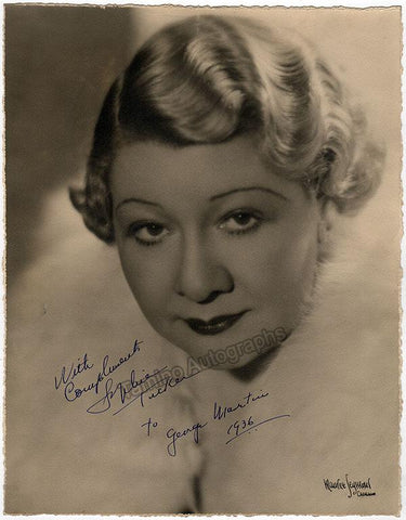 Tucker, Sophie - Large Signed Photo 1936