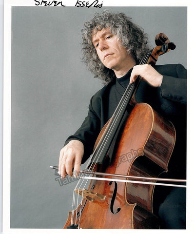 Isserlis, Steven - Signed Photo Playing Cello