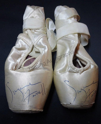 Farrell, Suzanne - Signed Pair of Pointe Shoes