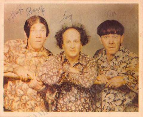 The Three Stooges - Triple Signed Photo