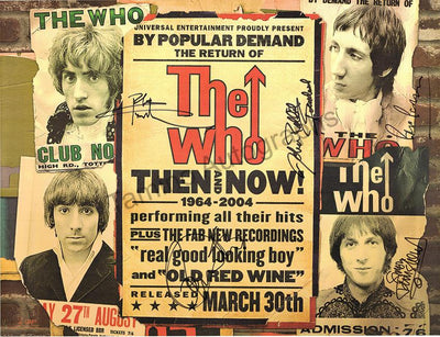 The Who - Poster Signed by 5