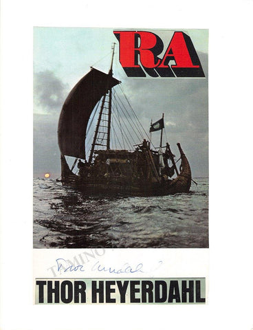 Heyerdahl, Thor - Signed Photo