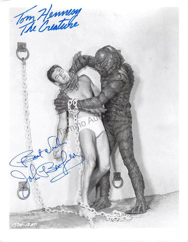 "Hennesy, Tom - Bromfield, John - Double Signed Photo in ""Revenge of the Creature"""