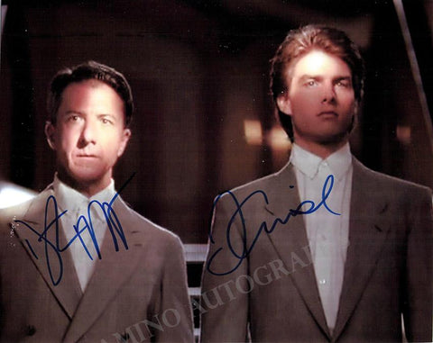 "Hoffman, Dustin - Cruise, Tom - Double Signed Photo in ""Rain Man"""