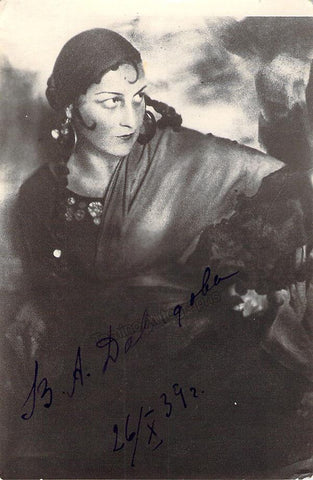 Davydova, Vera - Signed Photo in Carmen